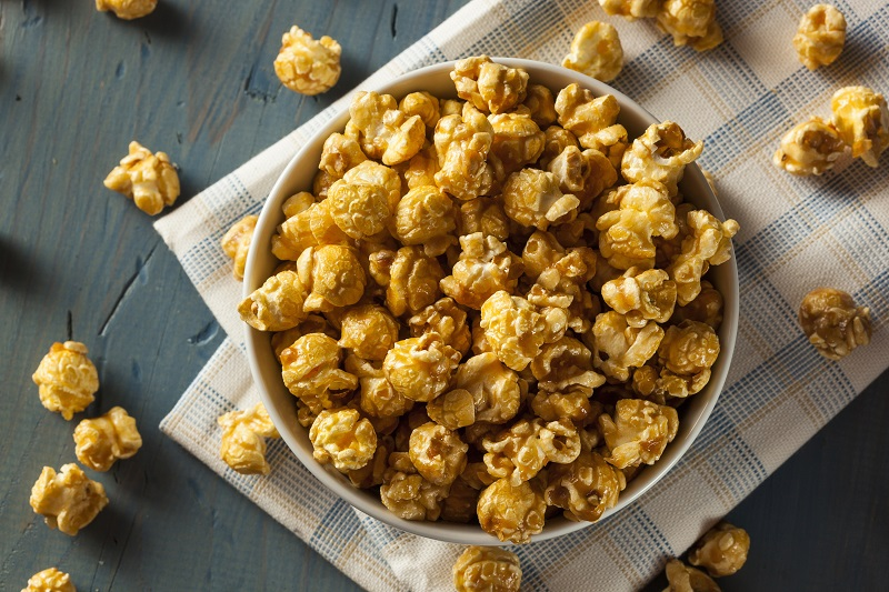 Popcorn z syropem klonowym i nasionami konopi, GrubyLoL.com