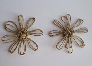 Ozdobne kwiatki ze sznurka konopnego, GrubyLoL.com